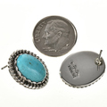Navajo Turquoise Sterling Studs 22381