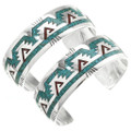 Turquoise Chip Inlay Navajo Bracelet 26001