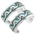 Turquoise Chip Inlay Navajo Bracelet 26001