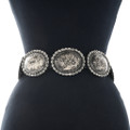 Hand Hammered Silver Concho Belt 23024