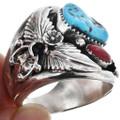 Turquoise Big Boy Navajo Ring 17297