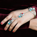 Native Made Turquoise Coral Bracelet 20258
