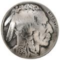 Indian Head Nickel Button Concho 22809