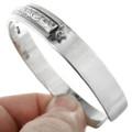Navajo Sterling Silver Bracelet Unisex Jewelry 22855
