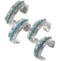Western Silver Turquoise Bracelet Cuff 23936