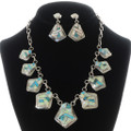 Inlaid Sterling Southwest Necklace Set 15181