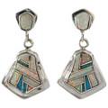 Turquoise Opal Indian Drop Earrings 15181
