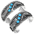 Natural Turquoise Silver Cuff 27430