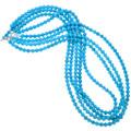 Blue Turquoise Necklace Genuine Magnesite Beads 29699