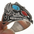 Turquoise Coral Mens Ring 28842