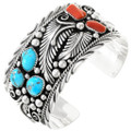 Turquoise Coral Silver Bracelet 14928