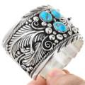 Native American Wide Silver Cuff Bracelet 14928