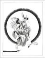 Fancy Powwow Dancer Navajo Art Print 21113