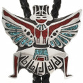 Knifewing Chip Inlaid Bolo Tie 14810
