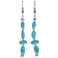 Turquoise Silver Navajo Earrings 29034
