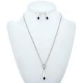 Lapis Sterling Pendant Earrings Set 14566
