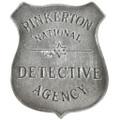 Pinkerton Detective Silver Badge 29198