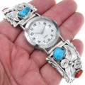 Sterling Silver Navajo Turquoise Watch 24499