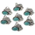 Genuine Natural Kingman Turquoise Rings 27626