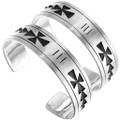 Native American Silver Overlay Bracelet 23593