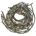6mm by 9mm Ocean Agate Beads 16 inch Strand