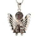 Wild Horse Magnesite Angel Pendant with Chain
