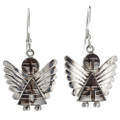 Wild Horse Magnesite Inlaid Sterling Silver Angel Earring 29524