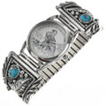 Turquoise Silver Mens Watch 23032