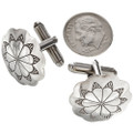 Hammered Silver Native American Cuff Links 20874