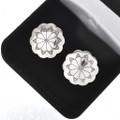 Hammered Sterling Concho Navajo Cuff Links 205874