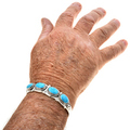 Hammered Silver Cuff Bracelet 29418