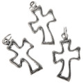 Sterling Silver Open Cross Charms 32761