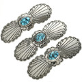 Sterling Turquoise Hair Barrette 29345