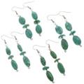 Natural Kingman Turquoise Earrings 28268