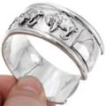 Heavy Gauge Sterling Cuff Bracelet 25916