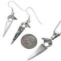 Southwest Bear Pendant and Earrings 29558