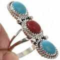 Traditional Ladies Turquoise Coral Ring 29109