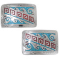 Hand Engraved Western Turquoise Belt Buckle 24352