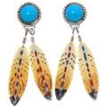 Navajo Turquoise Magnesite Post Earrings 24544