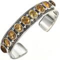 Citrine Silver Row Bracelet 29128
