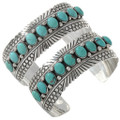 Turquoise Row Silver Navajo Cuff 27788