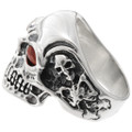 Coral Sterling Big Boy Ring 26023