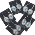 Turquoise Silver Concho Earrings 23031