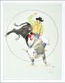 Indian Cowboy Bull Riding Art Print 35803