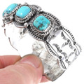 Turquoise Silver Cuff Bracelet 23586