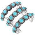 Authentic Navajo Garrison Boyd High Grade Turquoise Bracelets Signed 23586