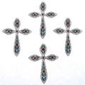 Southwest Inlaid Cross Pendants 23890