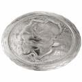 Engraved Silver Rose Belt Buckle 32658
