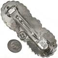 Hand Hammered Silver Gemstone Hair Barrette 29350