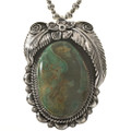 Sterling Turquoise Navajo Pendant 28676